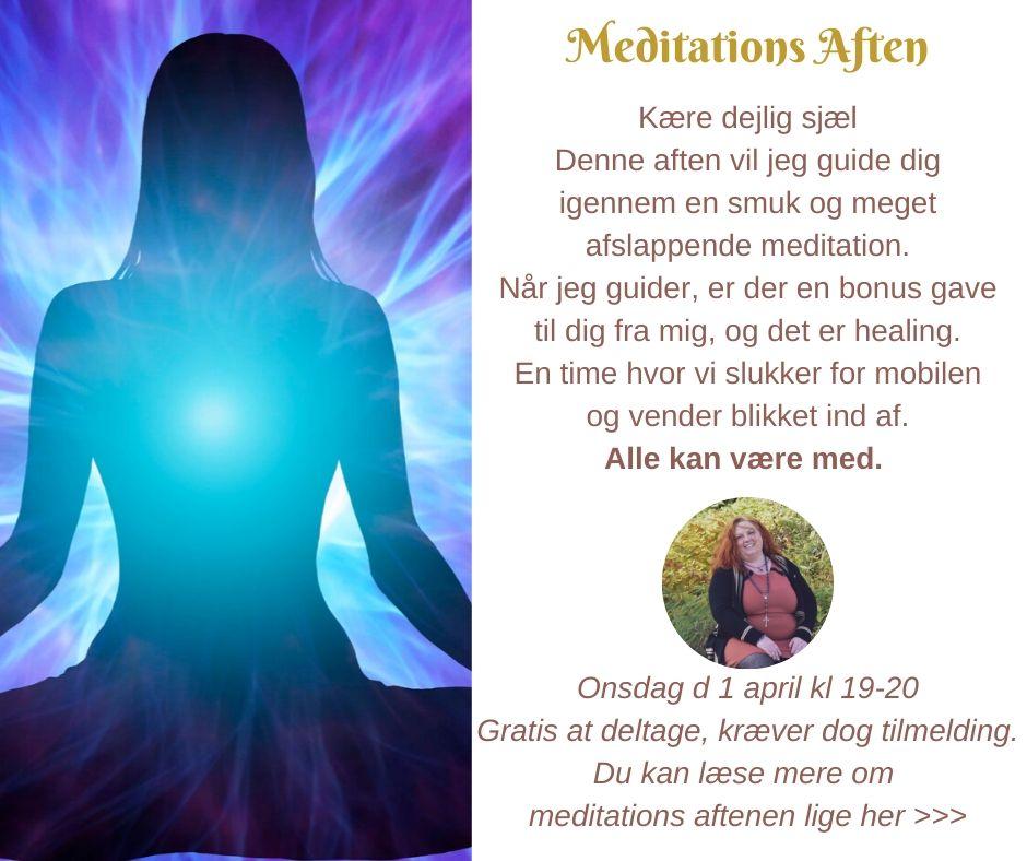 Lige her kan du læse mere om meditaions aften >>>